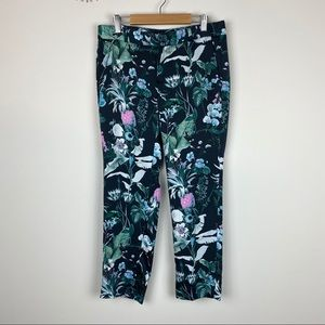 Banana Republic Avery Navy Floral Ankle Pants 2P